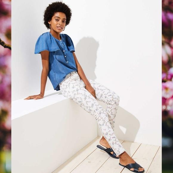 LOFT Denim - Loft Spring Floral Modern Skinny Jeans - So cute!!